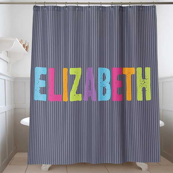 Personalized Kids Shower Curtain