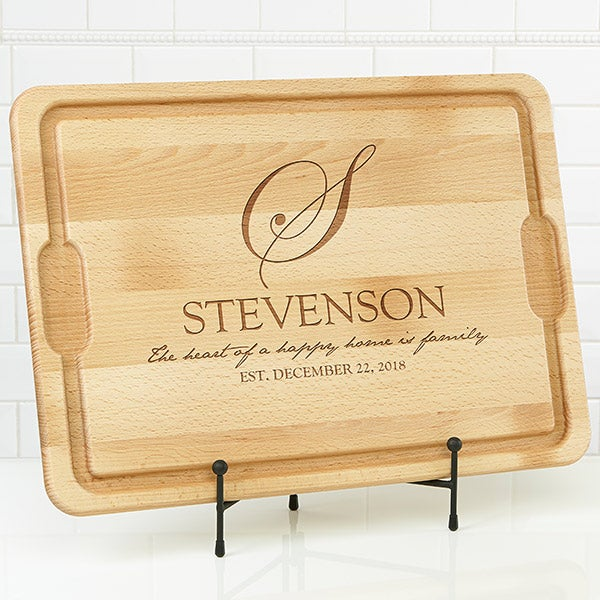 Personalized Maple Cutting Boards - Heart Of Our Home - 17595
