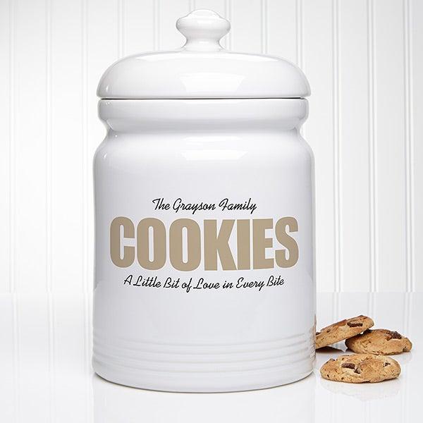COOKIES Personalized Cookie Jar