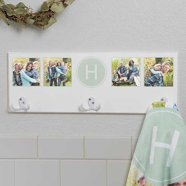 Photo Collage Personalized Towel Hook Rack - 17625