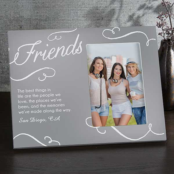 Sisters Best Friend Personalized Picture Frame Sisters Best Friend Side by Side Quote  Sister Gift