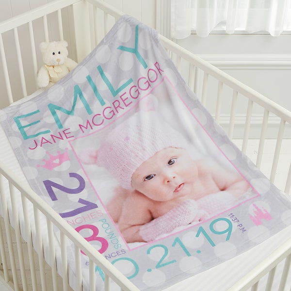 Personalized Fleece Baby Blankets for Girls - 17680