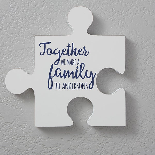 Personalized Family Quotes Wall Puzzle Pieces Quote 1 For The Home