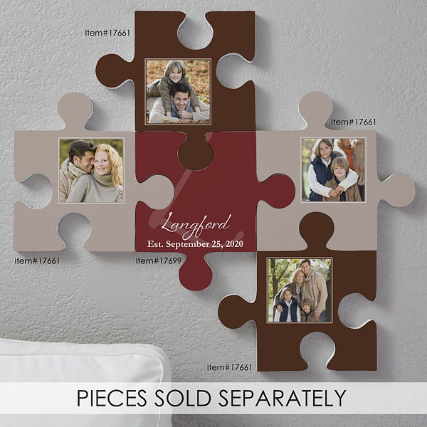 Personalized Family Wall Puzzle Piece Family Name