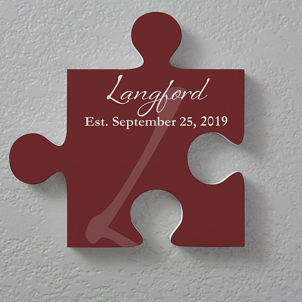 Personalized Family Wall Puzzle Piece - Family Name - 17699