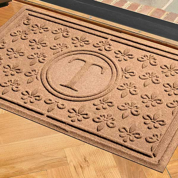 Personalized AquaShield Doormat - Fleur Field Monogram - 17704D