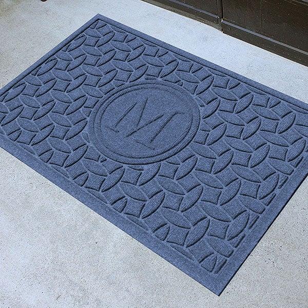 Personalized Monogram AquaShield Molded Doormat - Ellipse - 17705D