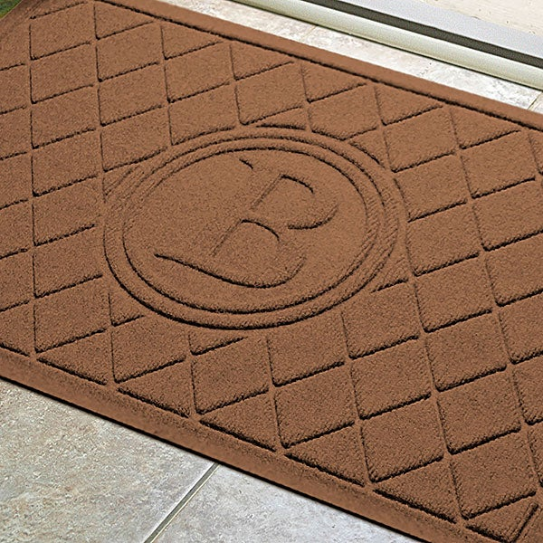 Argyle Monogram Personalized AquaShield™ Molded Doormat   - 17707D