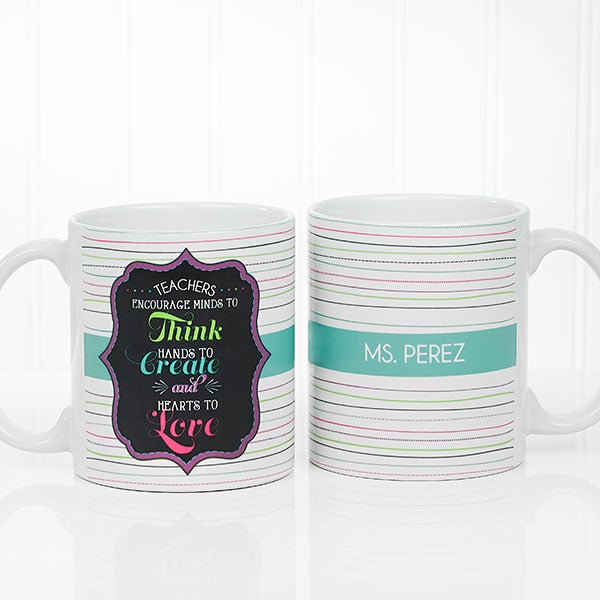 Personalized Coffee Mug For Teachers 11oz White