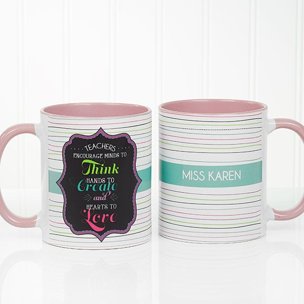 personalized coffee mug for teachers oz pink teacher gifts