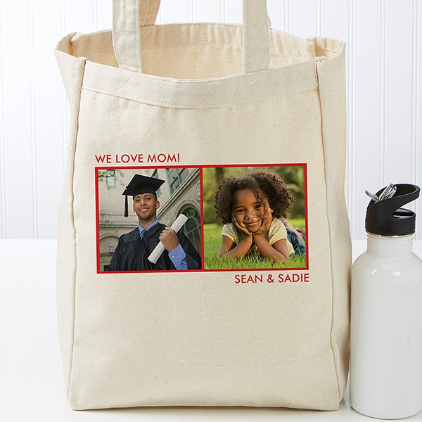 Custom Photo Tote Bag - Add Up to 3 Photos to Create Your Own Design - 17723