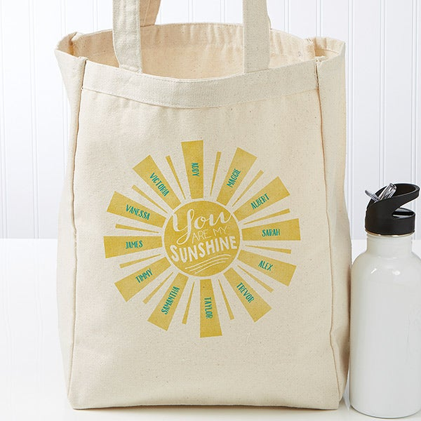 Personalized You Are My Sunshine Canvas Tote Bag - 17731