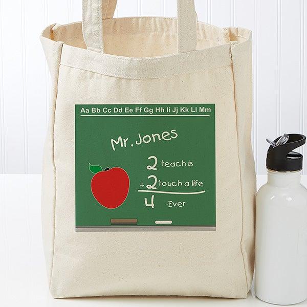 Personalized Teacher Chalkboard Tote - 17734