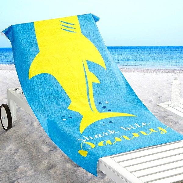 Personalized Shark Beach Towel - Shark Life - 17761