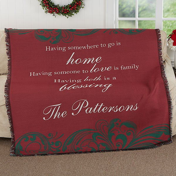 Personalized Throw Blanket - Christmas Blessings - 17770
