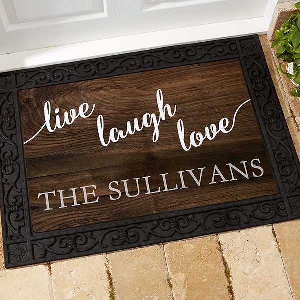 17790 Live Laugh Love Personalized Doormats