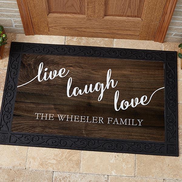 Personalized Live Laugh Love Doormats - 17790