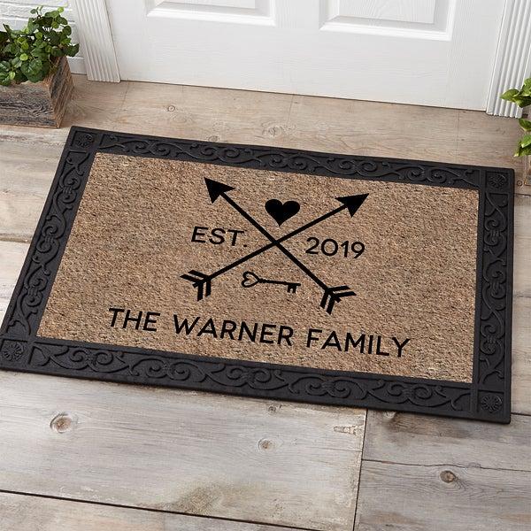 Personalized Doormats - Arrows of Love - 17793