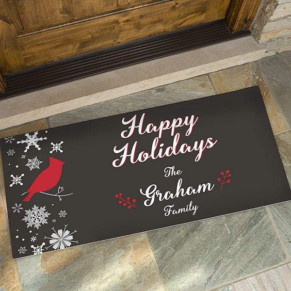 Personalized Christmas Doormats - Wintertime Wishes  - 17795