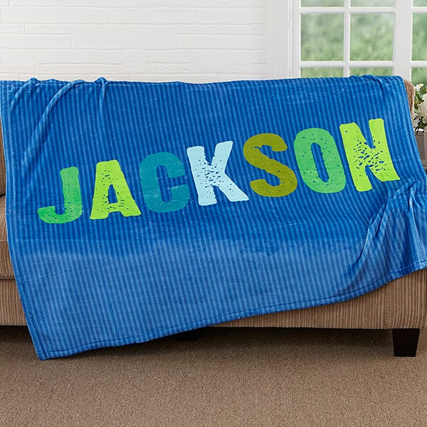 All Mine! Personalized Kids Blankets for Boys - 17805