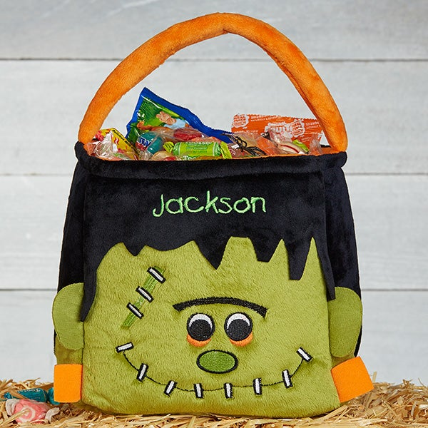 Embroidered Frankenstein Halloween Trick or Treat Bag - Freaky Frankie - 17816