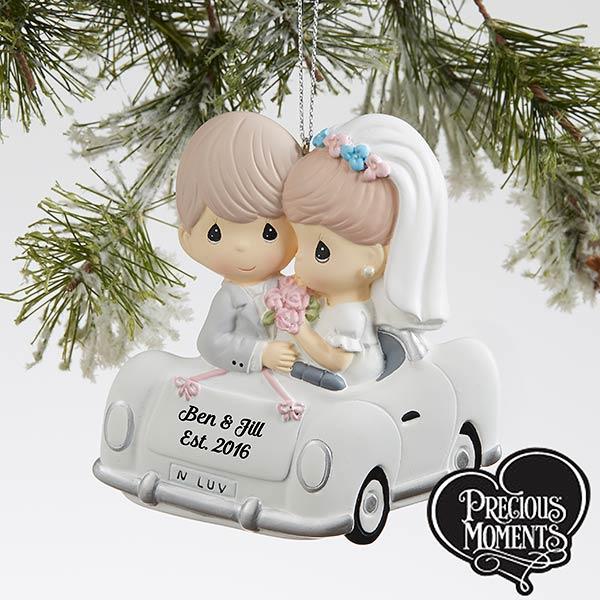 Wedding Car Precious Moments Personalized Ornament