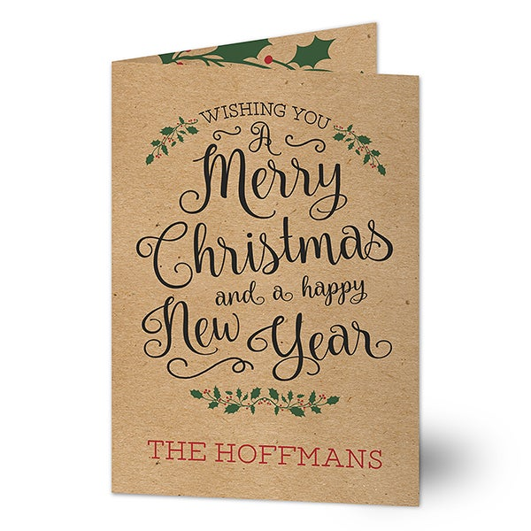 Personalized Christmas Card - Season Of Happiness - 17823