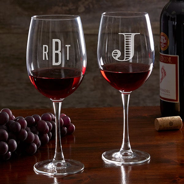 Classic Celebrations Personalized 19oz Red Wine Glasses