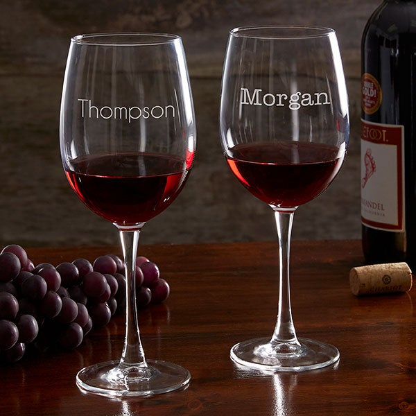 Personalized Classic Celebrations Wine Glass Collection - 17830
