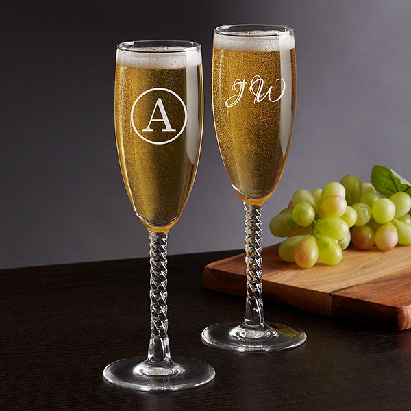 Personalized Classic Celebrations Champagne Glasses - 17832