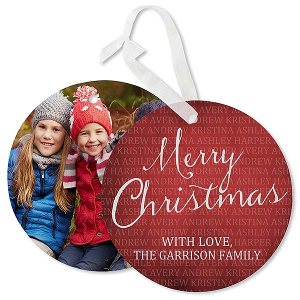 Personalized Together Forever Hanging Photo Ornament Christmas Cards - 17841