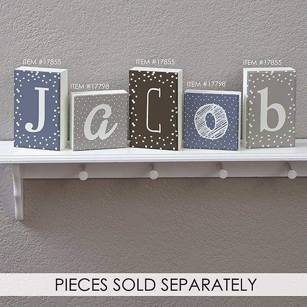Personalized Letter Decor Rectangle Shelf Blocks - 17855