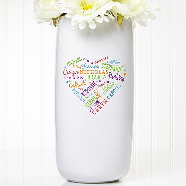 Personalized Flower Vase - Close To Her Heart - 17860