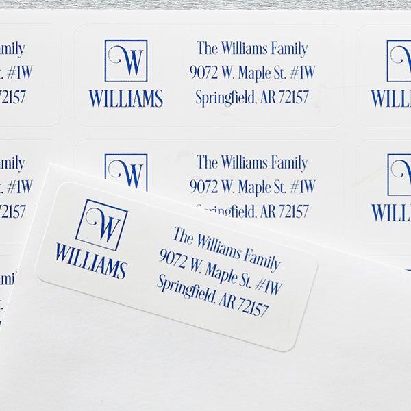 Square Monogram | Personalized Return Address Labels - 17921