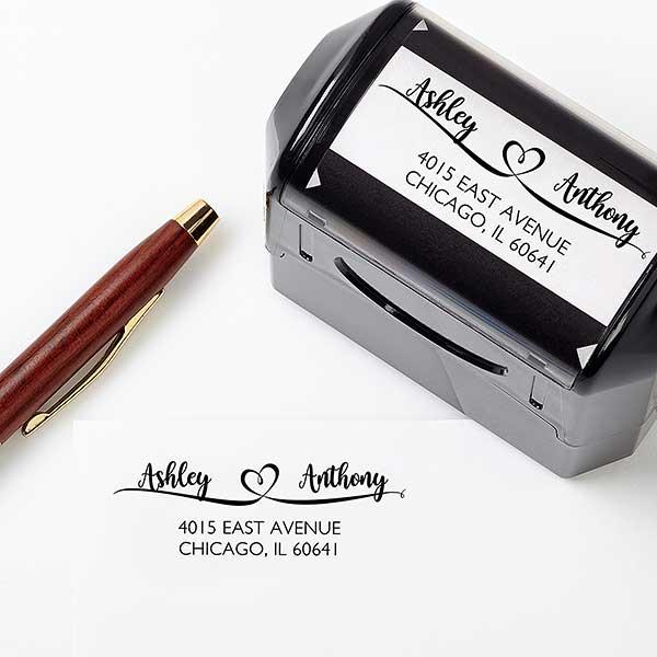 Loving Pair Personalized Address Stamp