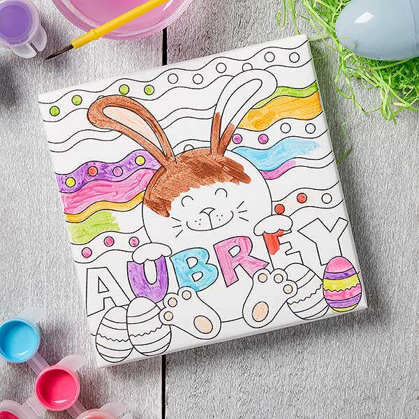 Easter DIY Coloring Canvas Print