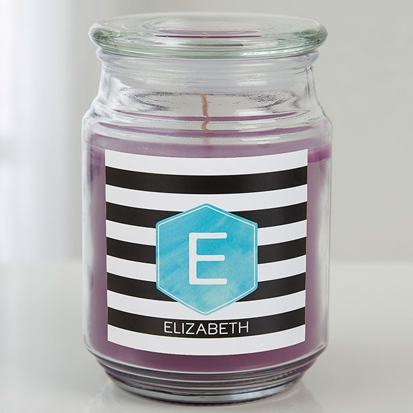 Personalized Candle - Monogram And Name - 17974