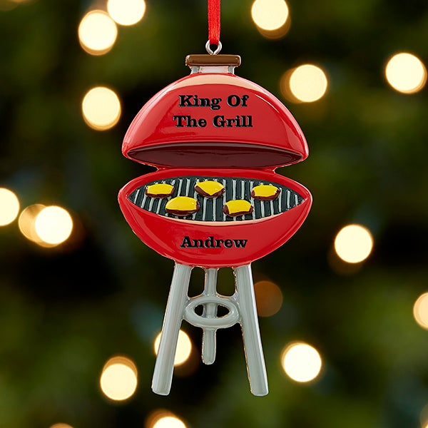 King Of The Grill Personalized Ornament