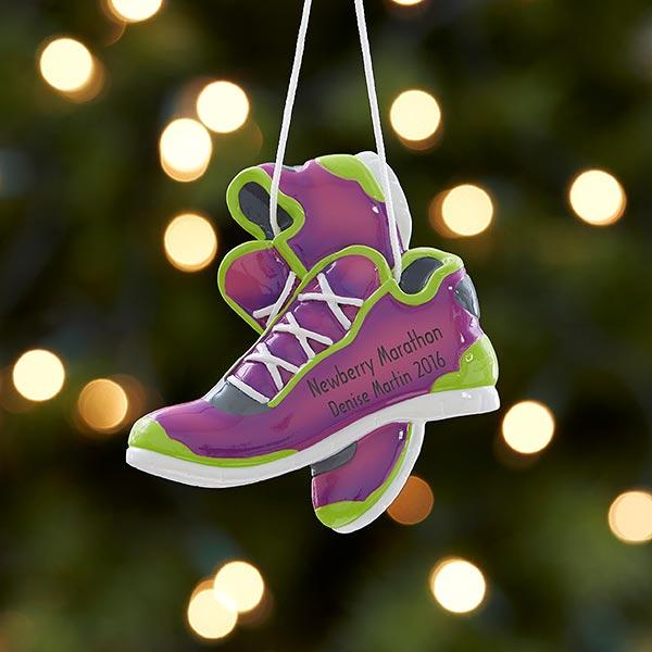 Born To Run Personalized Marathon Ornament - Purple