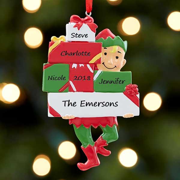 Personalized Family Ornament - Santa's Little Helper - 17983