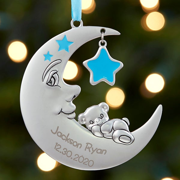 2020  Babys First Christmas Ornaments Baby Boy First Christmas Ornament   Personalized Moon