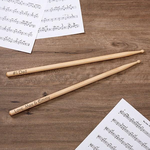 Personalized Drumsticks - #1 Dad Design - 18013
