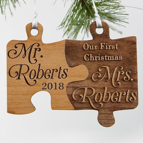 Personalized Wedding Ornament - Mr. & Mrs. - 18030