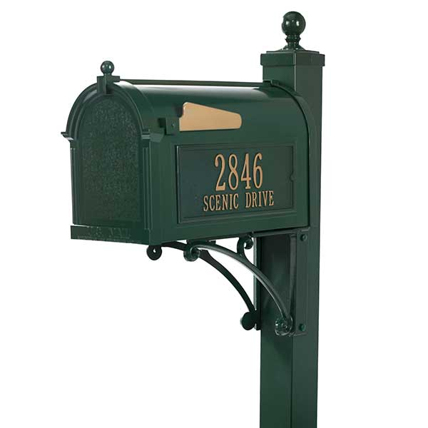 Personalized Custom Mailboxes - Rust-Free Aluminum  - 18039D