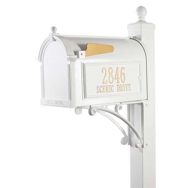 Personalized Custom Mailboxes - Rust-Free Aluminum  - 18039D