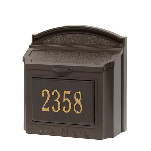 Personalized Wall Mailbox With House Number - 18040D