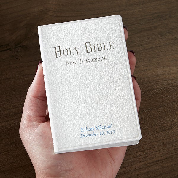Personalized Baptism Bible - New Testament - 18043