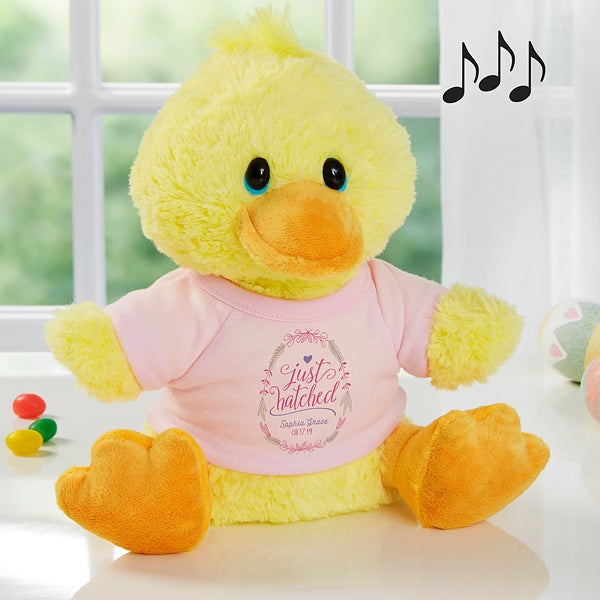Personalized Baby Gifts - Just Hatched Plush Duck - 18050