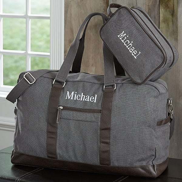 Men's Signature Embroidered Weekender Duffel & Travel Bag