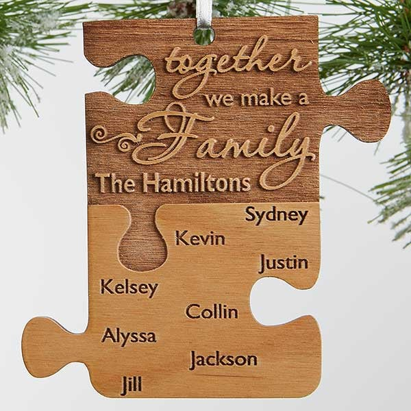 Personalized Family Ornament - Together We Make A Family - 18058